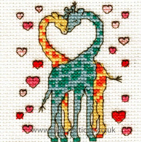Happiness Is Being In Love Mini Cross Stitch Kit